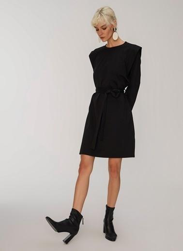People By Fabrika Vatkalı Elbise Siyah